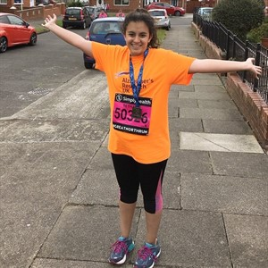 Beth runs the London Marathon